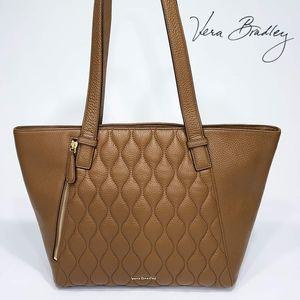 Vera Bradley Avery Tote Quilted Leather Purse Bag